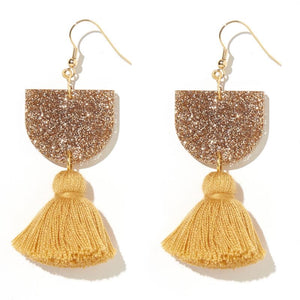 Emeldo- Annie Earrings/ gold and mustard