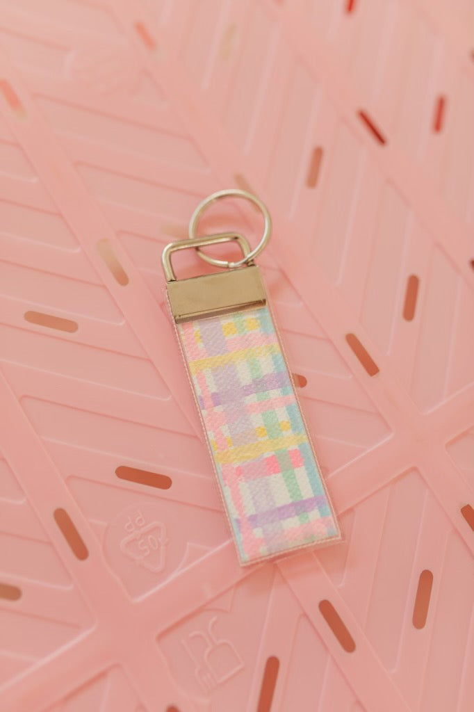 Hand Painted Keyring- Cotton Candy