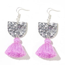 Emeldo- Annie Earrings/ Silver with Lilac