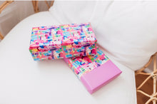 Colour Grid Wrapping Paper/ per meter