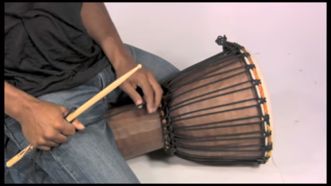 sit on the djembe