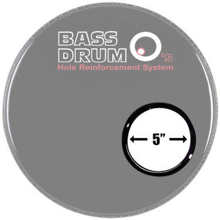 Bass Drum O's Sound Hole Ring Black 5''