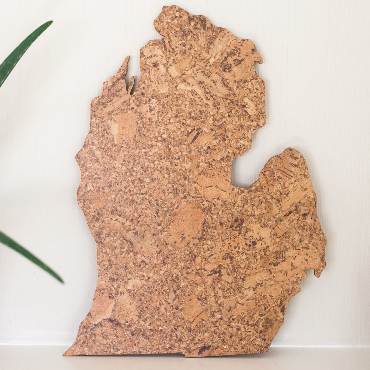 Cork Map of Michigan - Lower Peninsula, Wall Decor - GEO 101 DESIGN