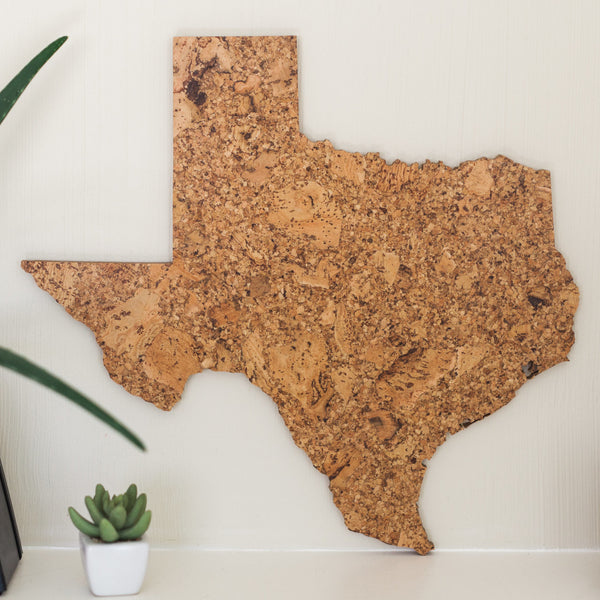 Cork Map of Texas, Wall Decor - GEO 101 DESIGN