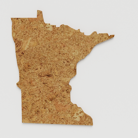 Cork Map of Minnesota,  - GEO 101 DESIGN