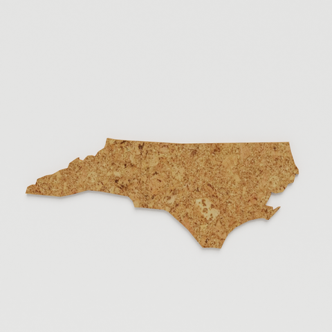 Cork Map of North Carolina,  - GEO 101 DESIGN