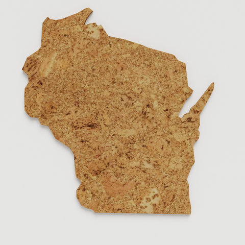 Cork Map of Wisconsin,  - GEO 101 DESIGN