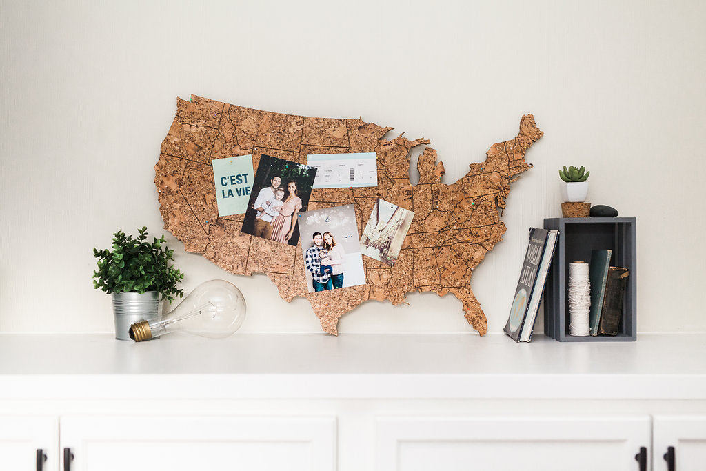 Cork Map of the United States