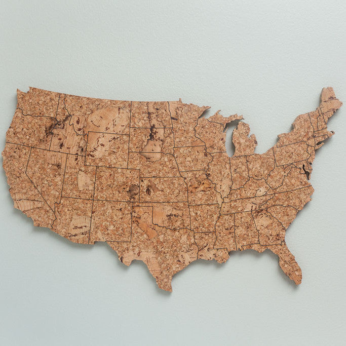 GEO 101 Design - Cork Map of the United States - Small Size