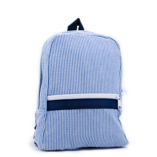 Navy Seersucker Toddler Backpack