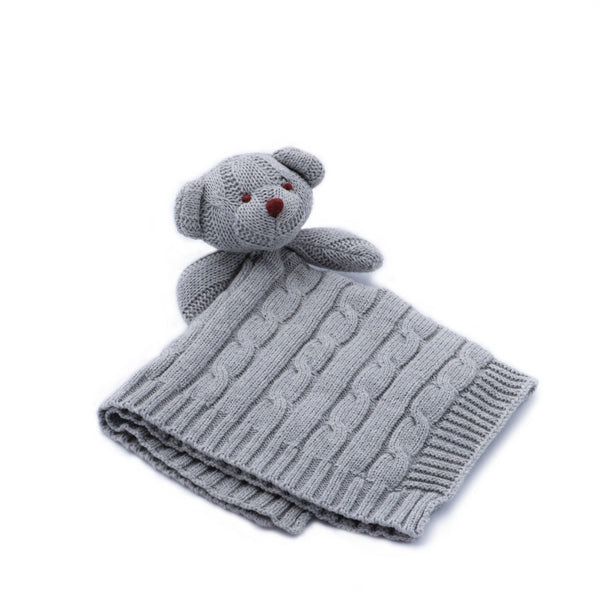 Grey Cable Knit Lovey