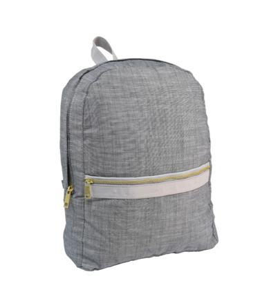 Grey Chambray Backpack