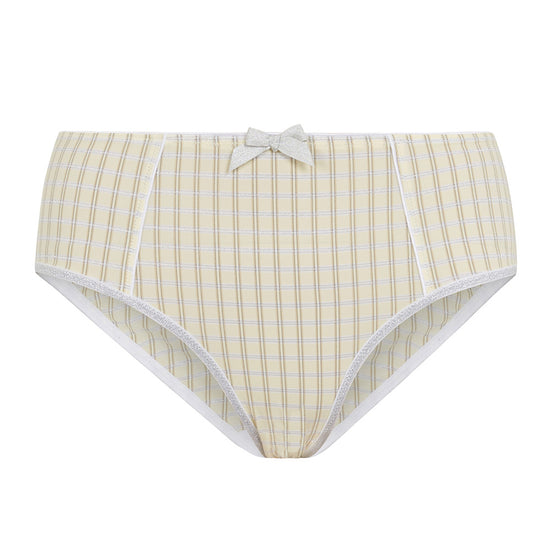 New Checkmate High Waisted Knickers (Yellow)