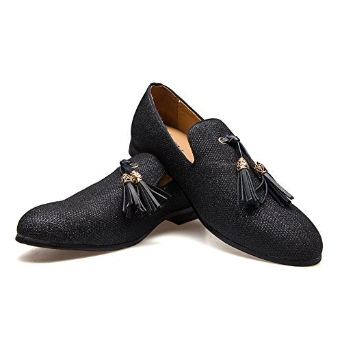 Men's Vintage Velvet Metal Cross Loafers Shoes