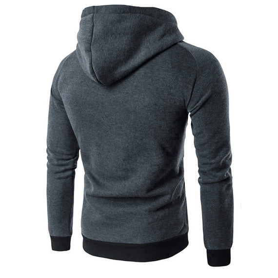 Men Sweatshirt Retro Long Sleeve Hoodie