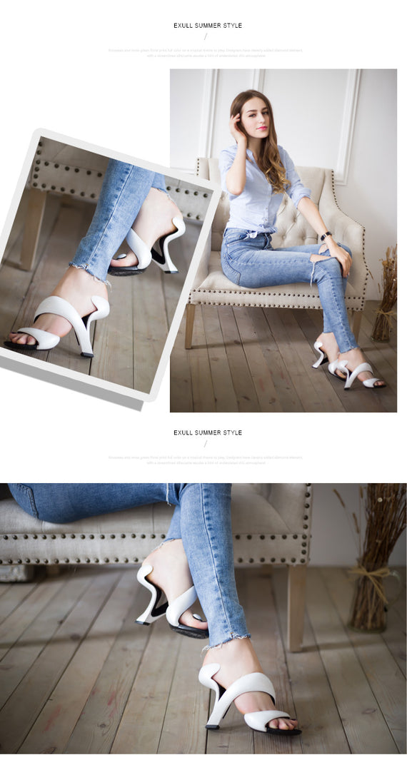 Bottomless Snake High Heels Platform Sandals Shoes for Woman
