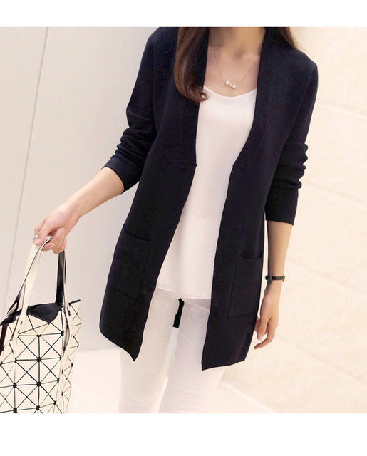 Medium-long elegant Knitted Outerwear Sweater