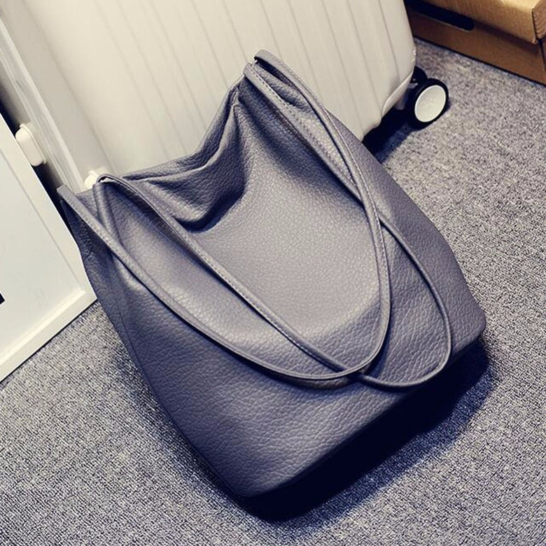 Women Leather Bucket Shoulder Bags