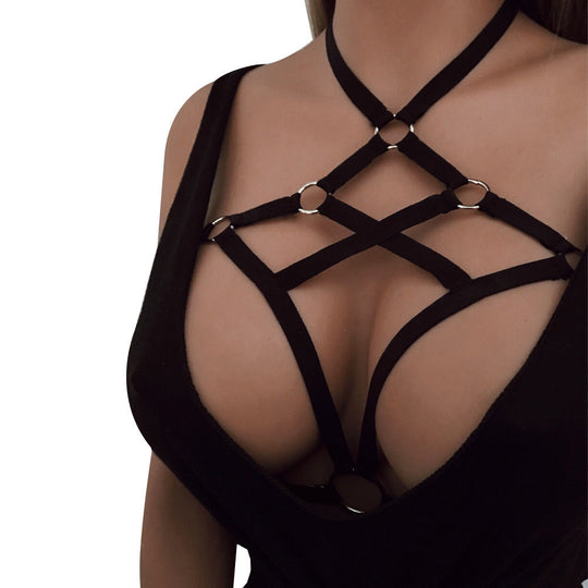 Sexy Women Girl Appliques Hollow Bra