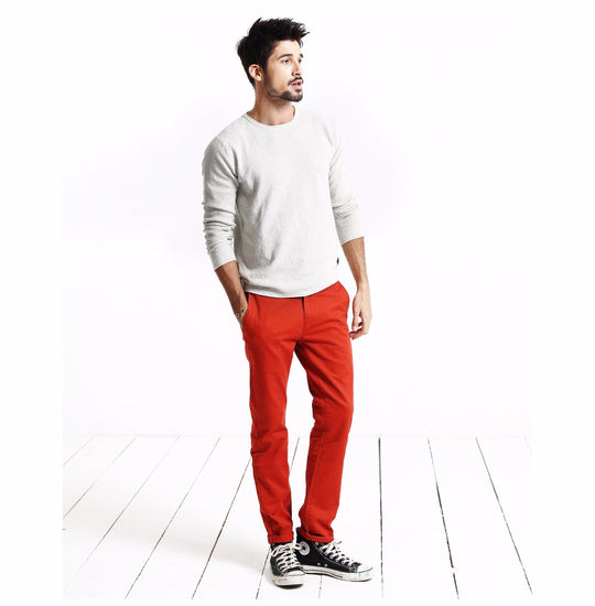 Slim Straight Casual Cotton Pant