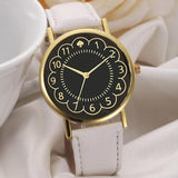 Fashion Women PU Leather Black Watch