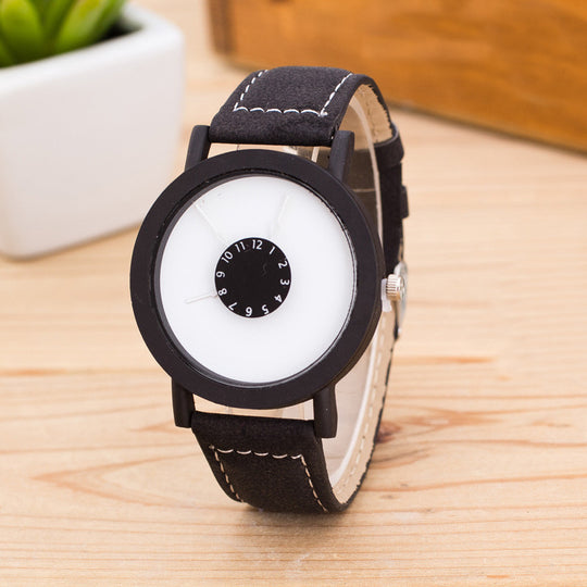 Women Faux Leather Strap Quartz watch