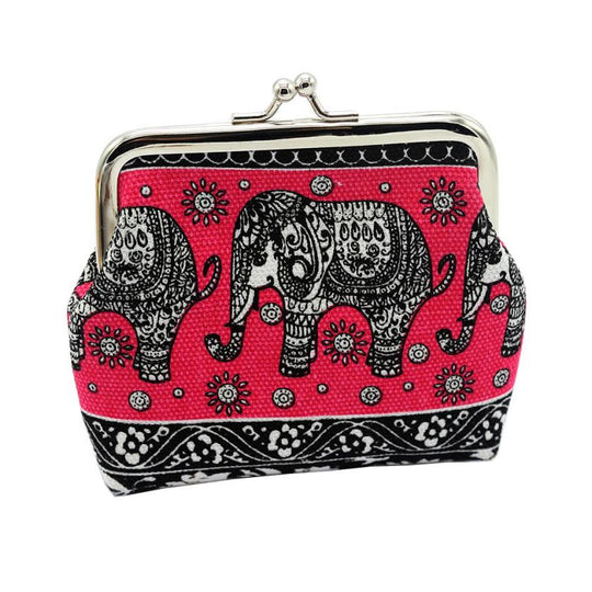 Women  Elephant Floral Purse