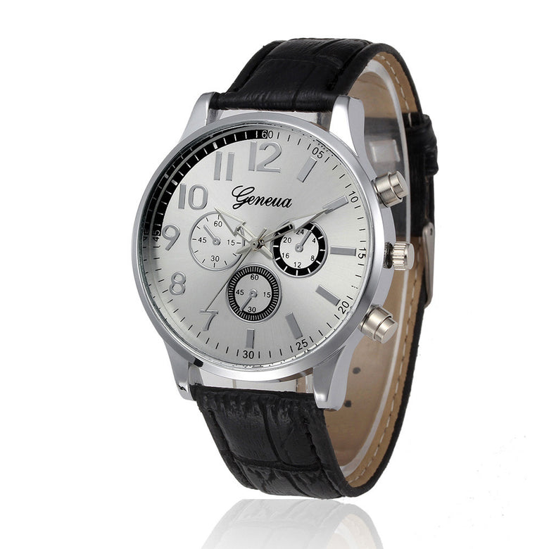 Men Retro Design Vintage Quartz