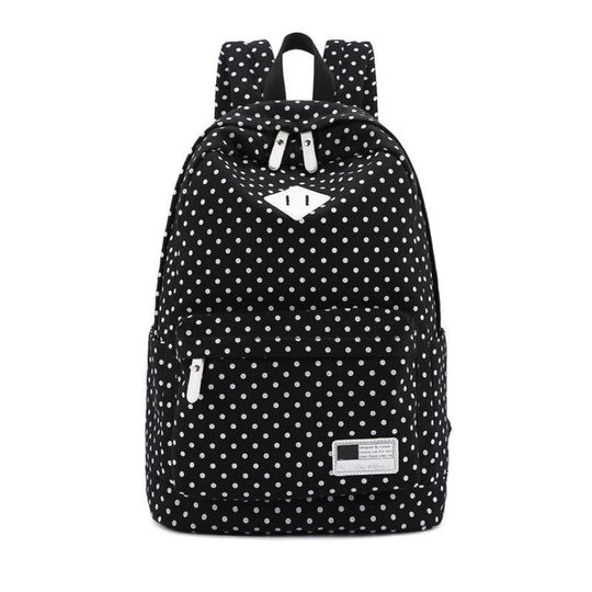 Unisex Canvas Polka Dot Shoulder Bag