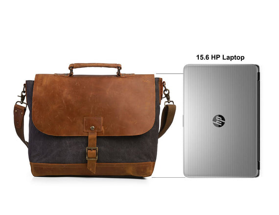 Shoulder Bag with Padded Compartment for Laptops