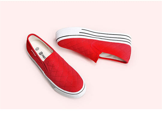 Flats Comfort Casual Canvas Platform Loafers