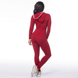 Long Sleeve Bodycon Front Zipper Hooded pants
