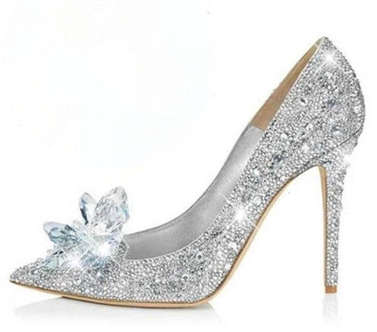 Rhinestone High Heels Cinderella Shoes
