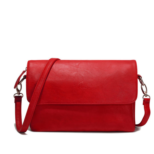 Casual Solid soft zipper cover flap handbag