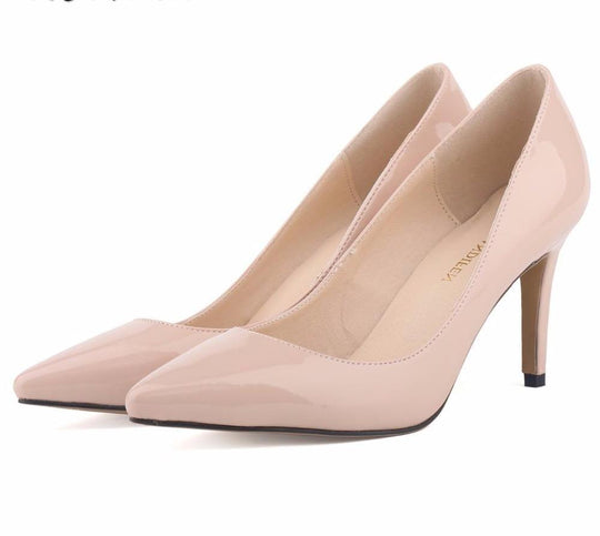 Loslandifen New fashion star pointed toe solid high heels shoes