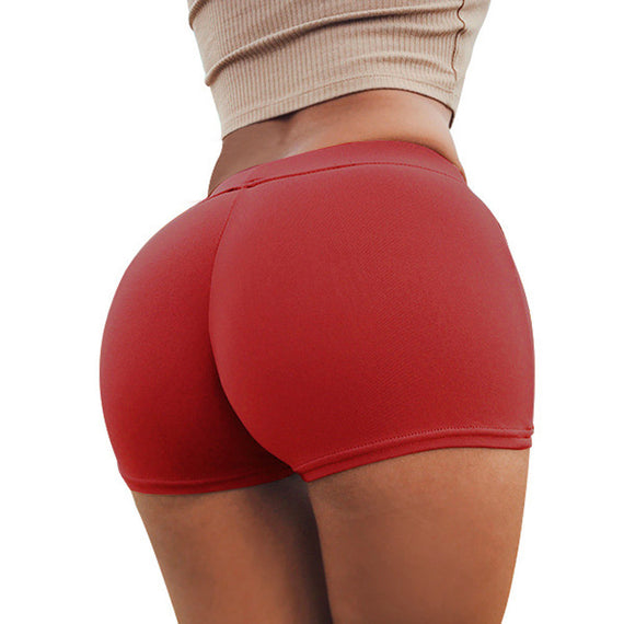 Gym Workout Waistband Skinny Yoga Short Pants