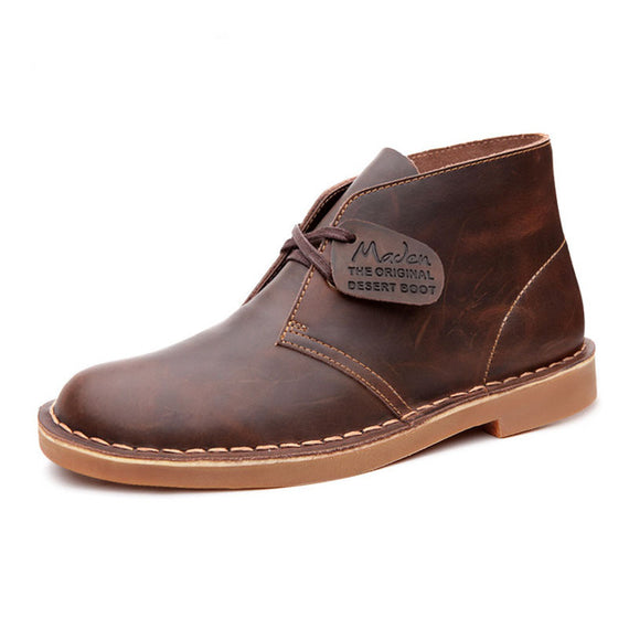Men's Ankle Boots British Style Top Quality Martin Desert Tooling Boots