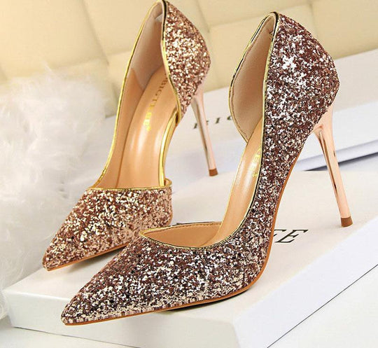 Women Pumps Bling High Heels