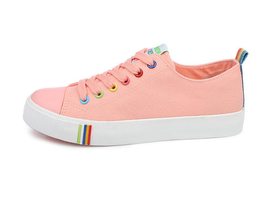 Flats Casual Breathable Walking Colorful Lace-up Shoes