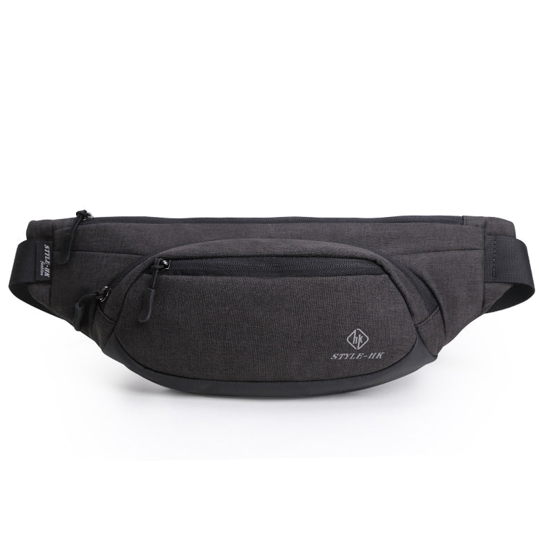 Black Waterproof Waist Bags for Men