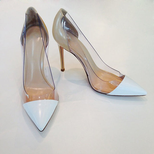 Women's Transparent Pointed Toe Pumps