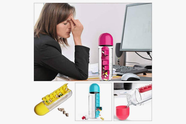 Pillbox Water Bottle