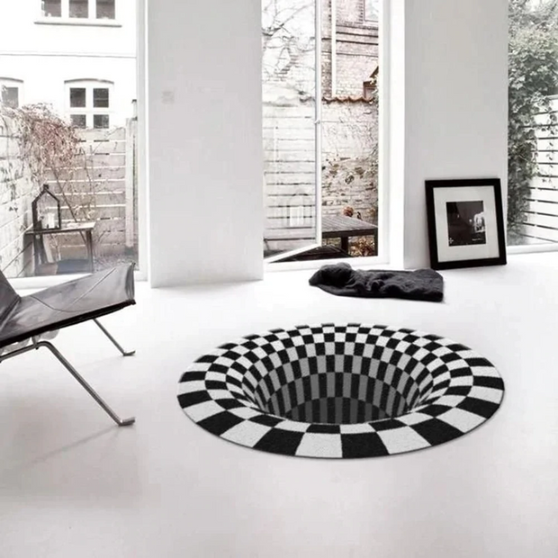 3D Vortex Illusion Rug Carpet