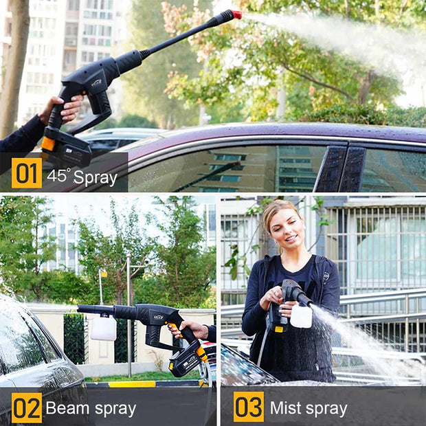 Wireless car washing machine high pressure water pump grabs portable household automatic washing machine