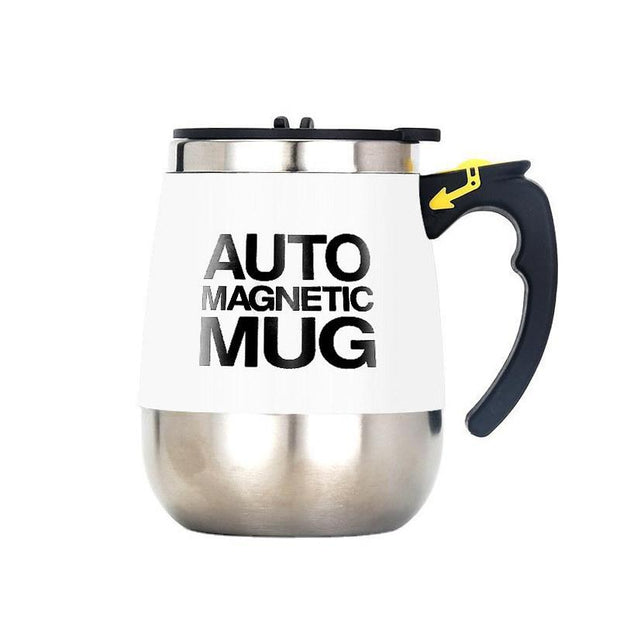 Auto Sterring Coffee Mug Stainless Steel Magnetic Mug