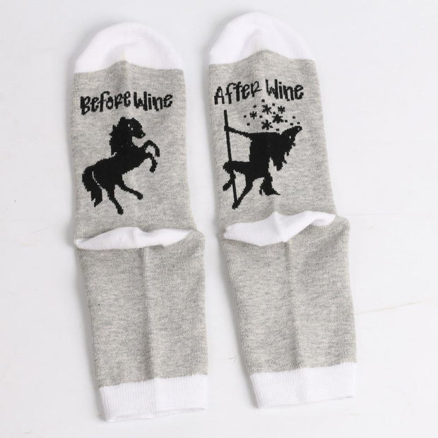 Unicorn Wine Socks
