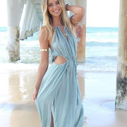 Strappy Long Dress with side slit