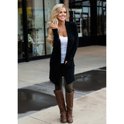 Plus Size Pocket Open Stitch Slim Jackets