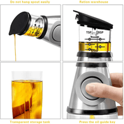 Household oil can quantitative glass kitchen oil bottle