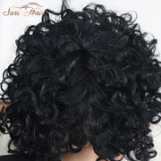 Suri Hair African American Synthetic Afro Kinky Curly Hair Wig Heat Resistant Black Short Wig For Women 12 inch